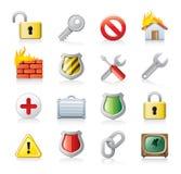 komputerowy ikony ochrony set Fotografia Royalty Free
