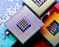 Komputerowy jednostka centralna układ scalony (środkowego procesoru jednostka) Obraz Stock