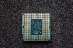 Komputerowy jednostka centralna układ scalony na mainboard (środkowego procesoru jednostka) Zdjęcia Royalty Free