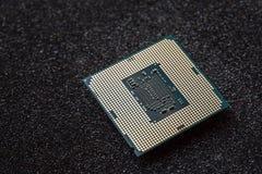 Komputerowy jednostka centralna układ scalony na mainboard (środkowego procesoru jednostka) Obrazy Royalty Free