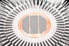 Komputerowy jednostki centralnej Heatsink I Termiczna pasta Fotografia Royalty Free