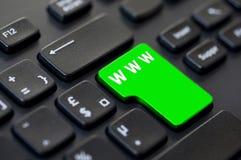 Komputerowy klucz z teksta Www zielenią Obraz Royalty Free