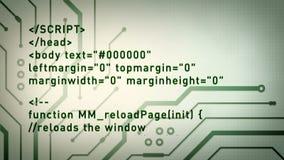 Komputerowy kod i obwody Zieleniejemy Lite ilustracji