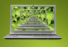 KOMPUTEROWY laptop 3D Obrazy Royalty Free