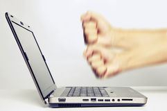 komputerowy laptop mój upadanie Fotografia Stock