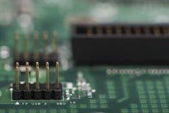 Komputerowy mainboard szczegół Zdjęcia Stock