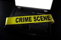 Komputerowy miejsce przestępstwa Obraz Royalty Free