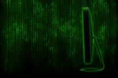 Komputerowy monitoru abstrakt Zdjęcie Stock
