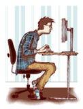 Komputerowy nałóg ilustracja wektor