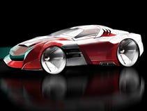 Komputerowy nakreślenia pojęcia samochód bawi się coupe ilustracja Fotografia Royalty Free