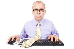 Komputerowy operator Fotografia Royalty Free