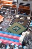 Komputerowy płyty głównej zbliżenie Zdjęcia Stock