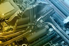 Komputerowy płyty głównej zbliżenie Obraz Royalty Free