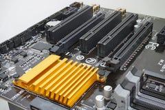Komputerowy płyty głównej zbliżenie Zdjęcie Stock