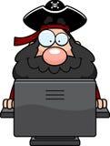 komputerowy pirat ilustracja wektor