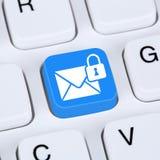 Komputerowy pojęcia dosłanie utajniał e-mailowej ochrony bezpiecznie poczta Zdjęcie Stock