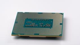 Komputerowy procesor wiruje na turntable zdjęcie wideo