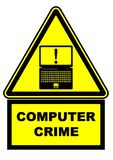 Komputerowy przestępstwo więcej mojego portfolio znak podpisuje ostrzeżenie royalty ilustracja