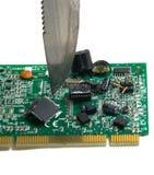 komputerowy przyduszenie Zdjęcia Stock