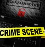 Komputerowy ransomware miejsce przestępstwa Zdjęcia Stock