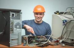 Komputerowy repairman Komputerowy technika inżynier 3d ilustracyjny usługowy poparcie Obraz Royalty Free