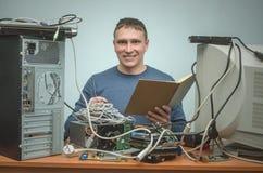Komputerowy repairman Komputerowy technika inżynier 3d ilustracyjny usługowy poparcie Zdjęcie Royalty Free