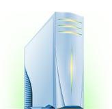 komputerowy serwer ilustracja wektor