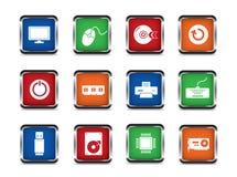 Komputerowy sieci ikony set