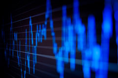 komputerowy wykresów rynku monitoru zapas Fotografia Royalty Free