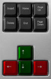 komputerowy zamknięta komputerowa klawiatura Obraz Stock