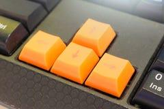komputerowy zamknięta komputerowa klawiatura selekcyjna ostrość komputerowy Keyboa Zdjęcie Royalty Free