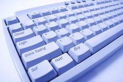 komputerowy zamknięta komputerowa klawiatura Fotografia Stock