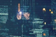 komputerowych cyfr hackera laptopu udziałów parawanowy używać Fotografia Royalty Free
