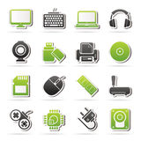 Komputerowych urządzeń peryferyjnych i akcesoriów ikony Zdjęcia Royalty Free
