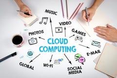 Komputertechnologieabstrakter begriff der Wolke Stockfoto