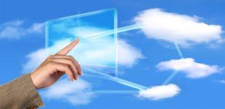 Komputertechnologiekonzept der Wolke Stockfotografie