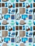 komputeru bezszwowy deseniowy Fotografia Stock