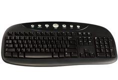 komputeru biel odosobniony klawiaturowy Obraz Stock