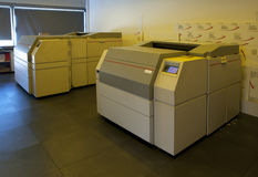 komputeru ctp półkowy druku proces obraz stock