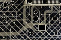 komputeru czarny wzór Obrazy Stock