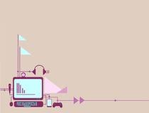 Komputeru i gadżetu tło ilustracji