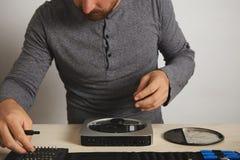 Komputeru i telefonu repairment usługa zdjęcia stock