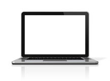 komputeru odosobniony laptopu biel Obraz Royalty Free