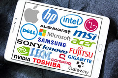 Komputeru (pecet) gatunki i logowie Zdjęcia Stock