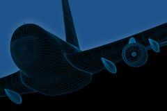 komputeru wireframe dżetowy pasażerski ilustracja wektor