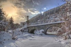 Komshtitsa-Dorf, Bulgarien - Winterbild Lizenzfreie Stockfotos