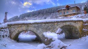Komshtitsa village, Bulgaria - winter panorama Royalty Free Stock Image