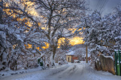 Komshtitsa village, Bulgaria - winter picture Stock Photos