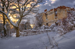 Komshtitsa village, Bulgaria - winter picture Royalty Free Stock Photos