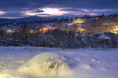 Komshtitsa village, Bulgaria - winter picture Stock Images
